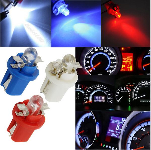 200 stücke T5 B8.5 SMD 5050 LED Armaturenbrett Glühbirnen Kennzeichenbeleuchtung Lichtquelle Wedge Basis Lampen 5 Farben