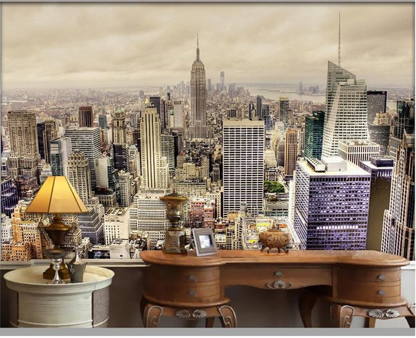 LClassic Home Decor ondon Cityscape mural 3d wallpaper 3d wall papers for tv backdrop