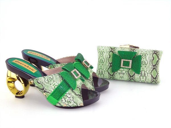 Original design Africa High Heels and purse matching Most popular shoes with bag to match for party dress UH1-2