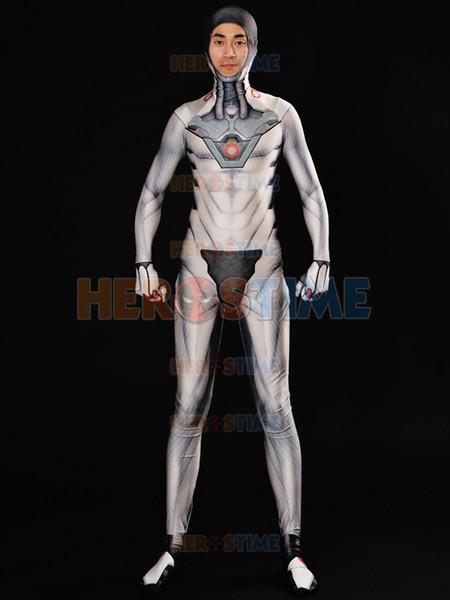 Game Genji Nihon Costume White Nihon Skin Cosplay Suit 3D Print Spandex Superhero Costume Custom Made For Male/Female/Kids Zentai Bodysuit