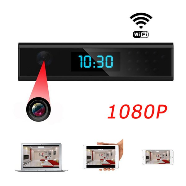 1080P HD Super Mini Wifi Camera Alarm Clock Camera P2P Tiny Cam Security Surveillance Camera Mini DV DVR Video Recorder