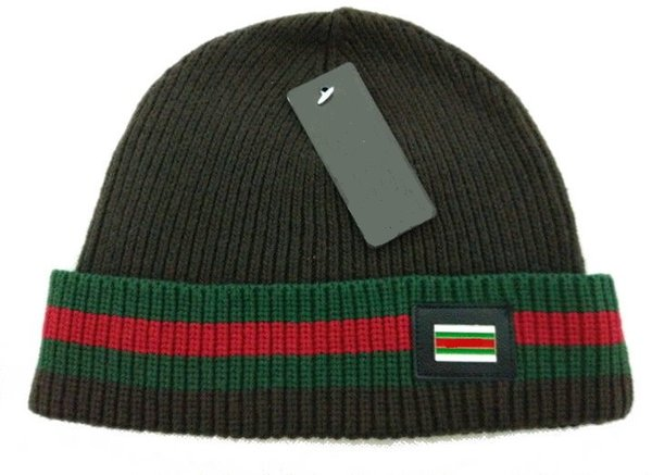 d40e24579 Brand Luxury Design Winter Hats For Men Women Knitted Beanie Wool ...