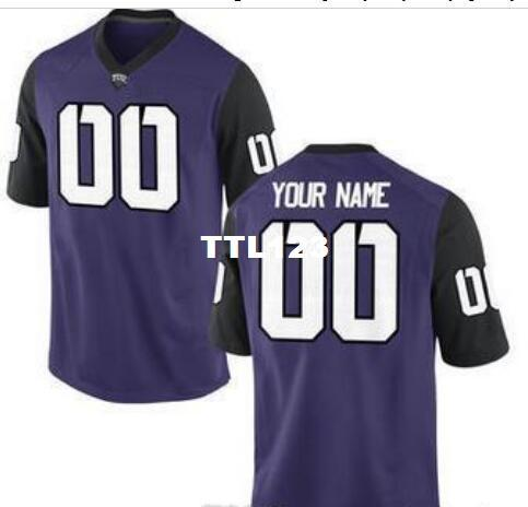 CUSTOM Mens,Youth,women,toddler, TCU Horned Frogs Personalized ANY NAME AND NUMBER ANY SIZE Stitched Top Quality College jersey