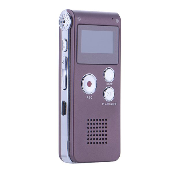 Al por mayor-8GB profesional grabadora de voz estéreo digital dictáfono Voz digital grabador de teléfono MP3 WMA micrófono USB con altavoz