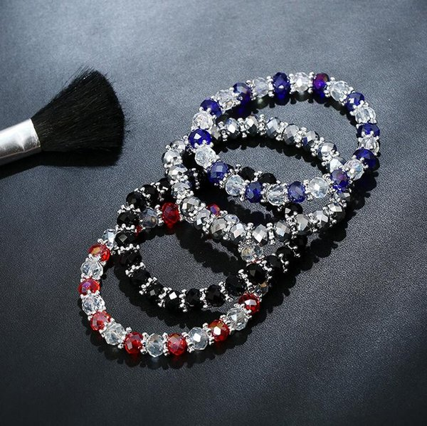 New arrival Natural crystal beaded bracelet ladies jewelry hot FB033 mix order 20 pieces a lot Beaded, Strands