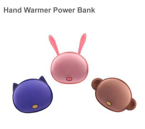 new cartoon Hand Warmer Power Bank real 4500mah Multifunctional External Battery Pocket Heater Portable PowerBank for iPhone 6 Samsung