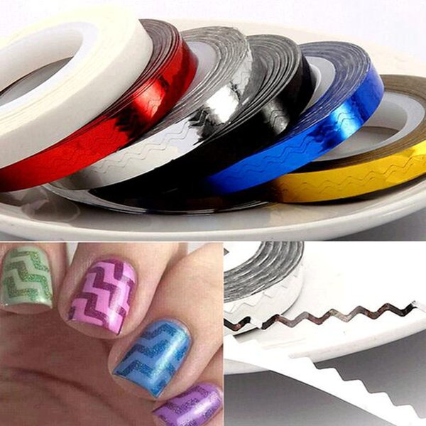 Rolls Stripping Tape Waves Line Strips Decor Decals Wraps Tools Gold ...