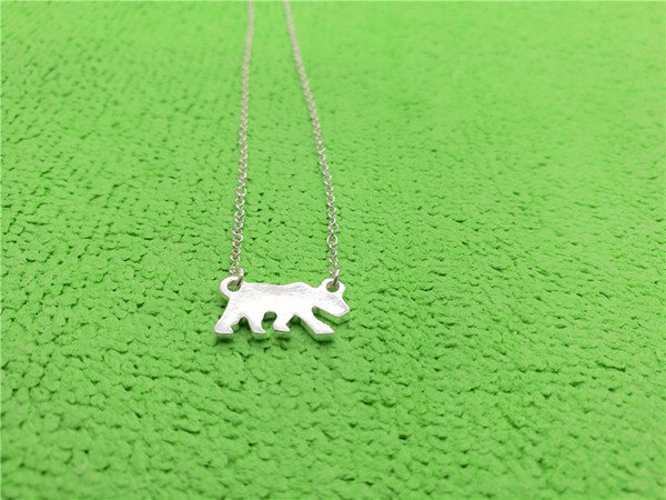 5PCS Tiny Gold Silver Polar Bear Necklaces Thin Bruin Necklace White Sea Bear Necklace USA California Cali Bear Necklaces