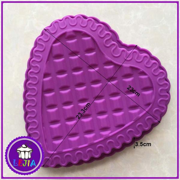 heart-shaped shape 1 hole Silicone Mold Cake Decoration tools Food Grade cake Moulds baking bakeware