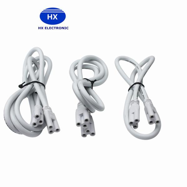 1ft 2ft 3ft 4ft 5ft câble pour T8 T5 intégré a mené des lumières de tubes Connecteur a mené la rallonge CE ROHS UL DLC