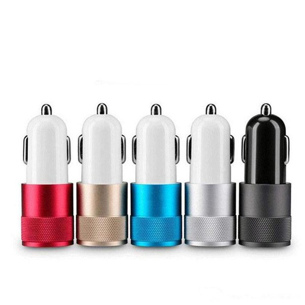 Micro Auto Universal 2 Port USB Car Charger 1A Mini Car Charger Adapter 5V/1A/2.0A/2.1A Free Shipping