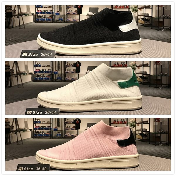 2017 New Arrival Stan Smith Sock Primeknit Shoes Fashion Men Women High Black White Green Pink Slip On PK Sneakers Trainers Size 36 44 Formal Shoes