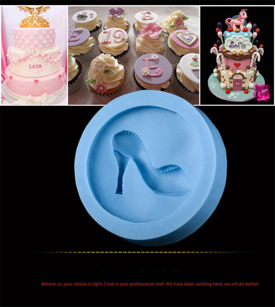 High Heel Shoe shape Fondant Chocolate Mold Baking DIY 3D Cute Stereo Lady's Shoes Candy Mould Sugar Paste Mold For Cake Decoration