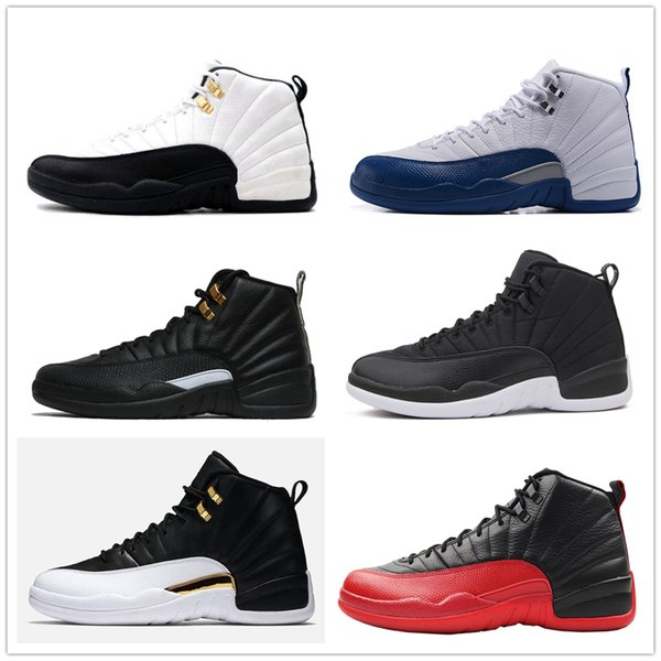 12s Classic 12 french gamma blue basketball shoes taxi ovo black nylon wings flu game 12s US8-13 rising sun cherry sneakers women men