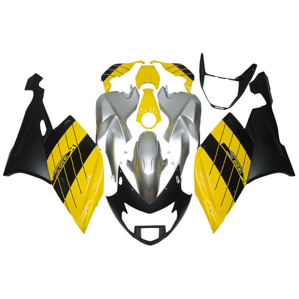 3 free gifts Complete Fairings For BMW k1200s 2005-2008 ABS Plastic Motorcycle Fairing Yellow Silver Black v26