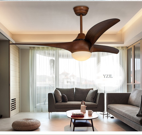 best selling Ceiling pendant fan light living room restaurant pendant Fan Minimalism modern American LED ABS white antique lights fan 52inch