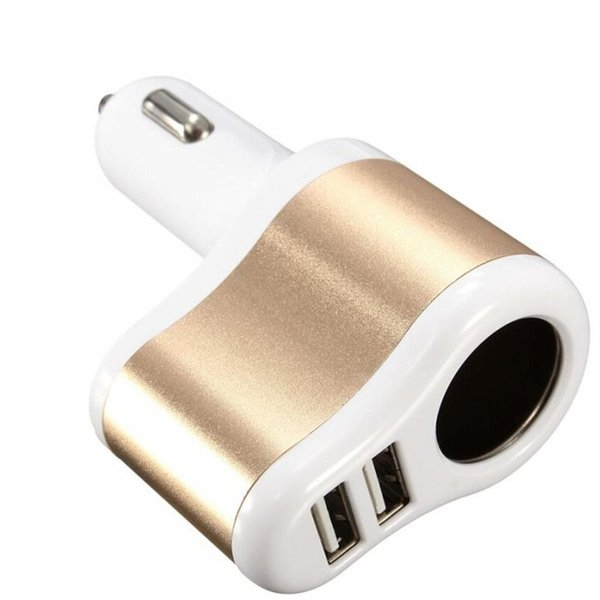 Universal Auto Car Chargers 5v 3.1A Dual USB For iPhone Samsung Cell phone Charger Accessories With Cigarette Lighter Power Socket Adapter