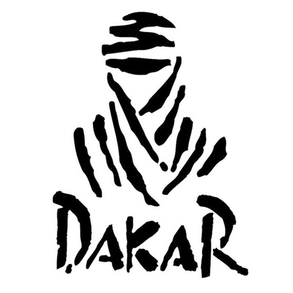 9.5*13CM Dakar Rally Character Car Cover Scratch Sticker Fashion Classic Car Motorcycle Accessories Decals C4-0058