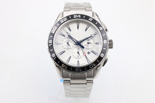 Relojes clásicos de lujo, de acero inoxidable, negro, blanco. Relojes con esfera, el nuevo concepto de relojes de moda y reloj para hombre. Envío gratis