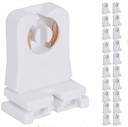Non-shunted T8 Lamp Holder Socket Tombstone for LED Fluorescent Tube Replacements Turn-type Lampholder Medium Bi-pin Socket for Programmed S