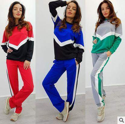 2017 Spring Autumn Sporting Suits Women Tracksuits Casual Long Sleeve 2 Piece Pants Sets fashion sports Women Suits