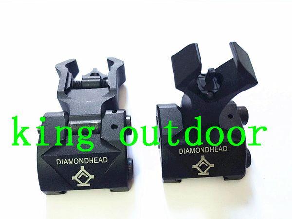 best selling Diamondhead DIAMOND Iron Sight Flip-Up Rear Front Sight Folding Iron Sights for Drop-In Free-Floating Handguards Picatinny Rail