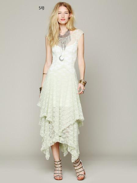 2019 Women Summer Lace Maxi Dress irregular Bridesmaid Wedding Dress Robe Vestidos plus size clothing Dress Party Elegant