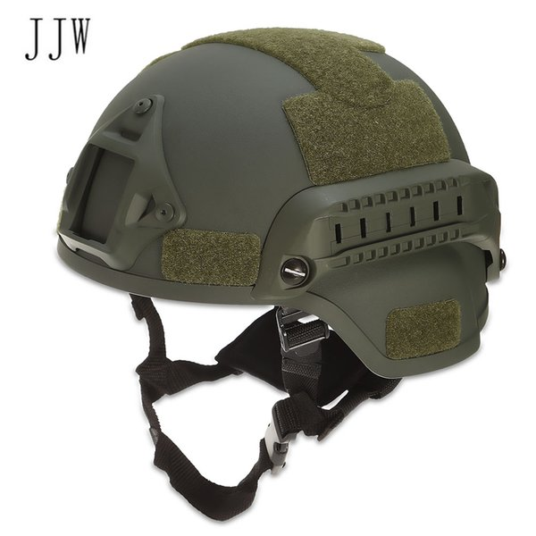 JJW Tactical Helmet Gear Paintball Head Protector con Night Vision Sport Camera Mount Helmets Bike Cycling Spedizione gratuita VB