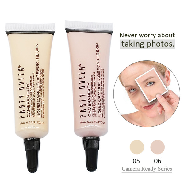 Party Queen CameraReady Perfecting Cover Concealer Liquid Professional Creamy Face Stage Makeup Brand Concealers Make up