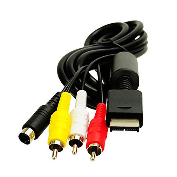 Vendita calda 6 piedi Cavo audio da 1,8M a RCA per Sony Play Station per PS / PS2 / PS3 Video AV