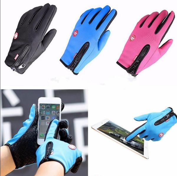 Winter Mode Touchscreen Winddicht Wasserdicht Outdoor Sport Handschuhe Bike Winddicht Winterhandschuhe Thermische Warme Touchscreen Handschuhe KKA2168