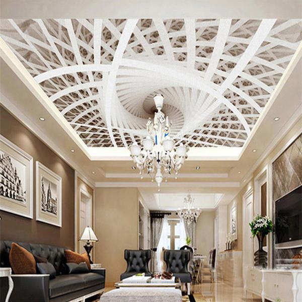 Großhandel 3D Geometrische Kunst Whirlpool Decke Wandbilder Wohnzimmer  Schlafzimmer TV Hintergrund Hotel Restaurant Jane Euro Decke Tapete Von ...