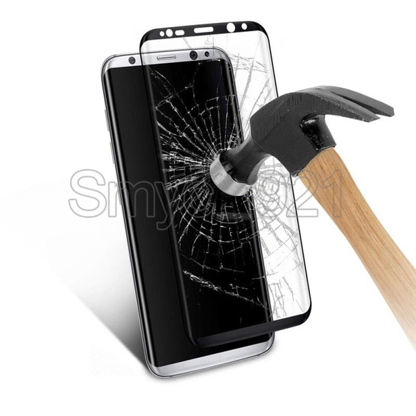 Tempered glass for samsung galaxy S8 S8 plus 3d curved colorful screen protector film for s6 s7 edge 0.2mm 9H