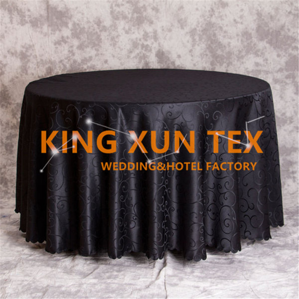 Hot Sale Round Jacquard Damask Table Cloth Cheap Tablecloth For Wedding And Event Decoation Free Shipping