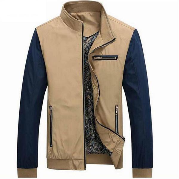 Wholesale- Bomber Jacket Men 2017 Nuovo arrivo Autunno Moda uomo giacca cappotto solido giacca maschile per uomo casual sottile soprabito giacca a vento