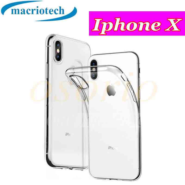 For iphoneX 8 7 76 6S plus Anti-Scratches TPU Gel Premium Slim Case Flexible Soft Bumper Rubber Protective Cover for Samsung S8 S7 S6 S5