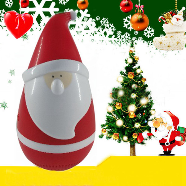 best selling Free DHL Mini Tumbler Santa Claus Bluetooth Speaker Wireless Smart Bluetooth Bass Music Speaker Audio Speaker for Christmas