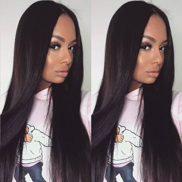 130% Density Silky Straight Silk Top Full Lace Wig Peruvian Lace Front Human Hair Wigs for Black Women FDSHINE