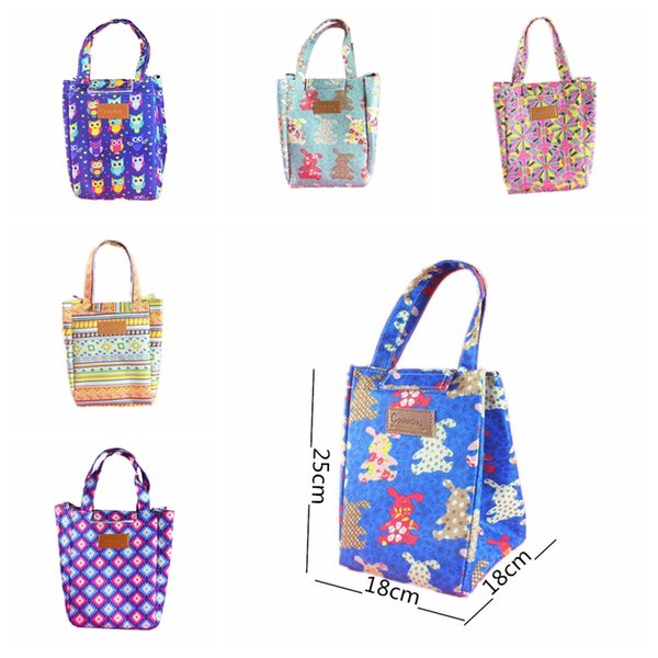 Wholesale 2017 New Lunch Bags Pouch Storage Box owl rabbit Insulated heat Thermal Cooler Bag Picnic Tote Bolsa Termica Lancheira handbag