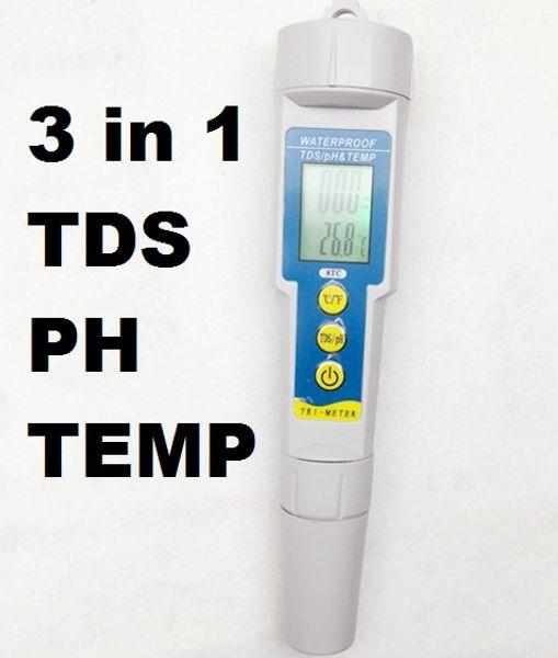 Toptan-Çok parametre Dijital TDS Tester PH Metre sıcaklık Su Kalitesi 0.01 Akvaryum Balıkçılık Monitör için Acidometer