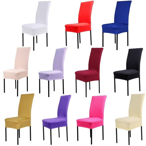 White Spandex Stretch Dining Chair Cover Machine Washable Restaurant For Weddings Banquet Folding Hotel Chair Covering