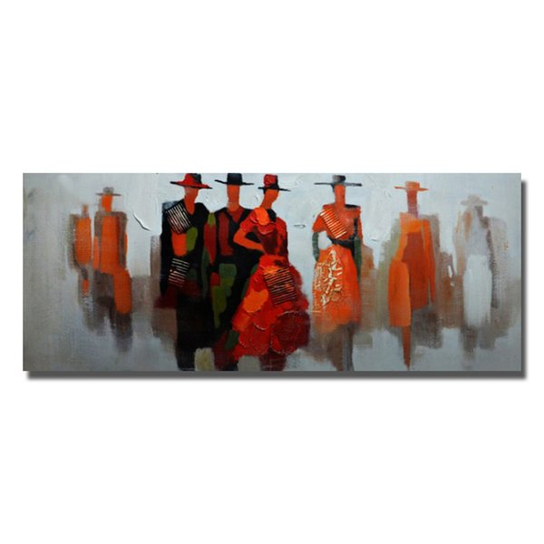 Acheter Dessin Animé Figure Belles Femmes Peinture à L Huile à La Main Peinture Murale Fille Sexe Avec Photo D Animal De 5 17 Du Ouweili Dhgate Com