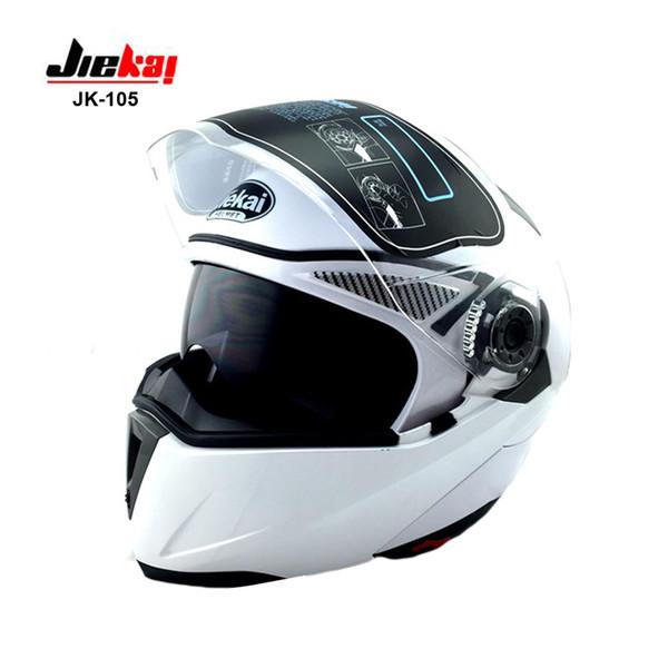 Casco integrale moto con interno Visiera Ognuno Affordable JIEKAI-150 Caschi Moto NERO, nero opaco, rosso, bianco, giallo