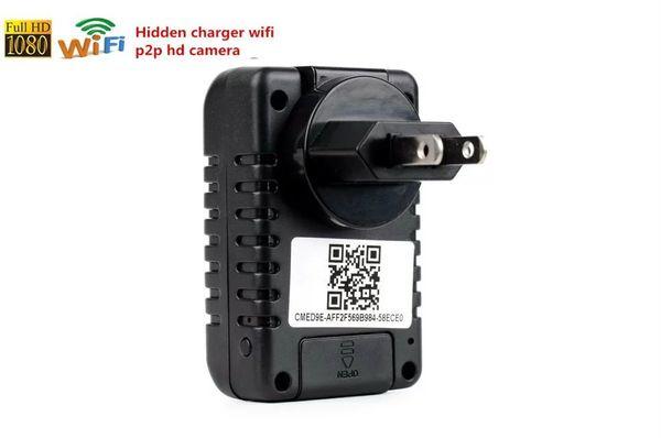 Cargador de cámara WIFI mini cámara IP Enchufe de EU / EE. UU. Full HD 1080P cámara agujereada A1 Detector de movimiento Grabador de video Vigilancia de seguridad