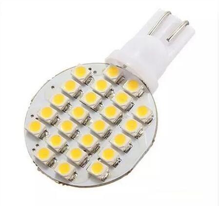 20 PCS T10 Wedge W5W 24 LED SMD Branco / Branco Quente RV Luz Lâmpada Lâmpadas de Estacionamento Carro Instrumento Luz DC12V