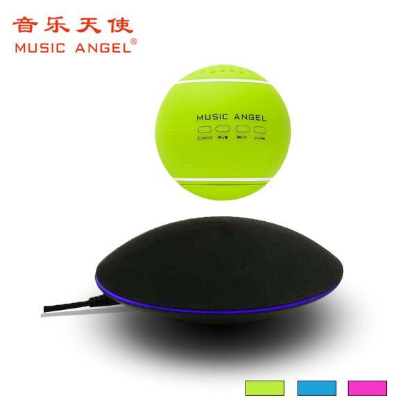 Toptan-Orijinal Yeni MÜZIK MELEK Aktif Ses FM USB Kablosuz Taşınabilir Mini hifi Hoparlör Yüksek teknoloji 4.1 Döner Maglev levitating hoparlör