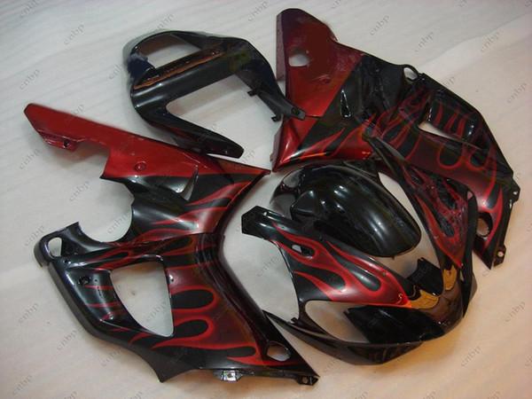ABS Fairing for YAMAHA YZFR1 01 Body Kits YZFR1 00 Black Red Flame Plastic Fairings YZF1000 R1 2000 2000 - 2001