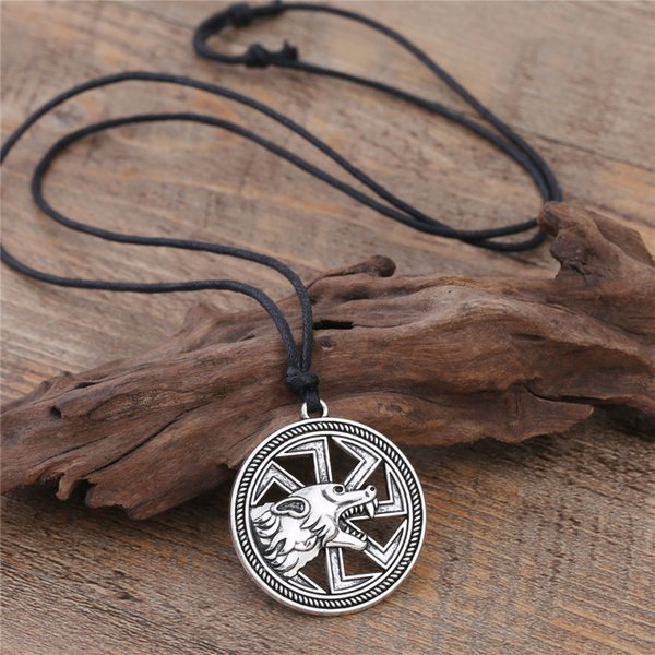 Vintage Style Viking Medieval God Jewelry Engraved Animal Necklace Stainless Pendant Necklace