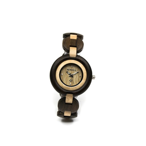BEWELL Wooden Wristwatch Wood Bracelet with Analog Quartz Analog Watch Watch New Bracelet Bangle Quartz W010A on sale