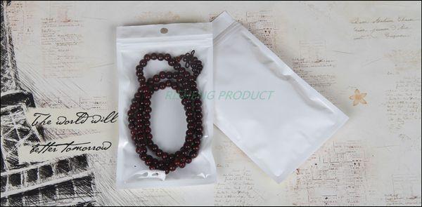12 * 18 cm, 100 x weißer durchscheinender BOPP-Perlfilm-Druckverschlussbeutel - Kunststoffbeutel mit wiederverschließbarer Folie vorne klar, selbstversiegelter Reißverschlusssack